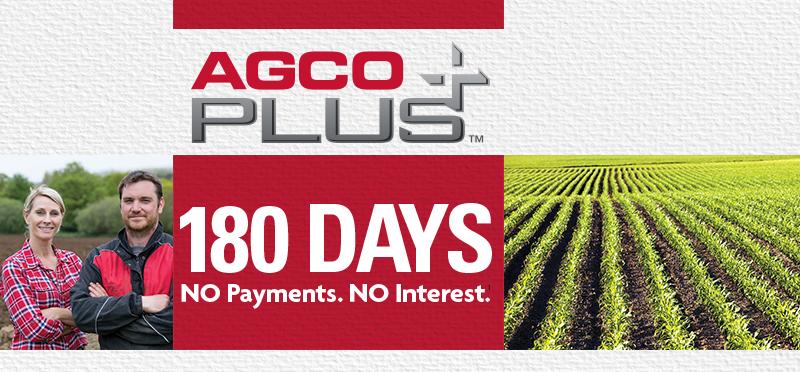 AGCO Plus |  180 Days | No Payments. No Interest.