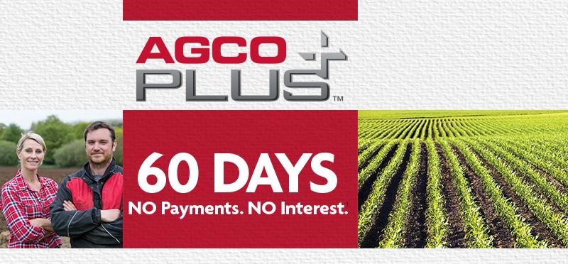 AGCO Plus |  60 Days | No Payments. No Interest.